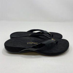 Vionic Women's Black Flip Flops Size 9 A128